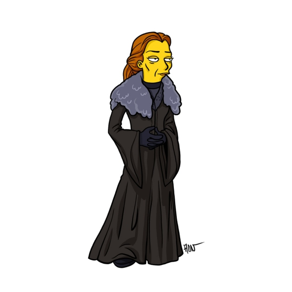 Catelyn Stark simpson character cartoon
