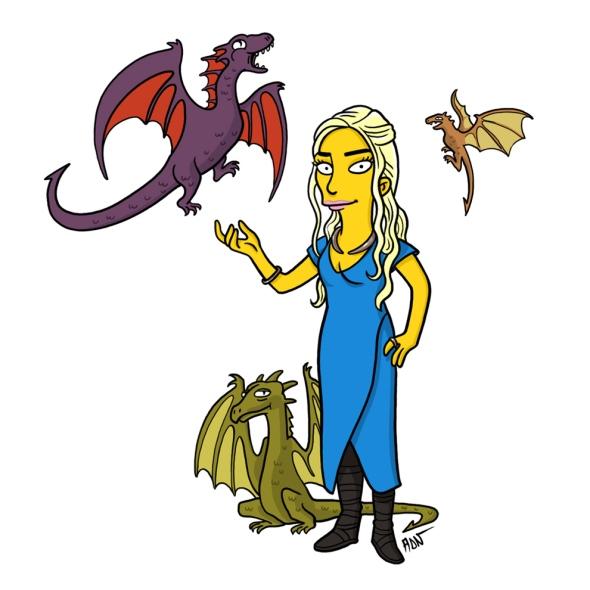 Daenerys Targaryen simpson character
