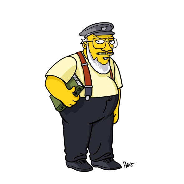George R R Martin simpson character cartoon