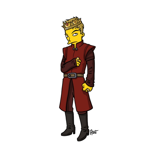 Joffrey Baratheon Lannister simpson character cartoon