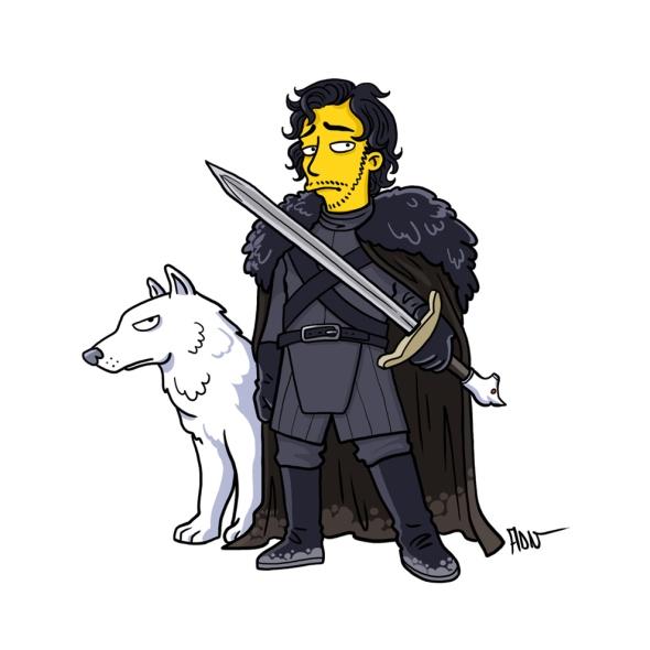 Jon Snow simpson character
