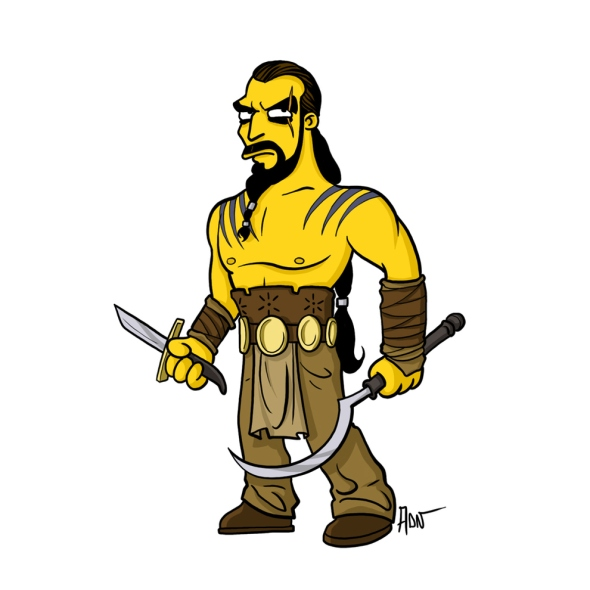 Khal Drogo simpson character cartoon