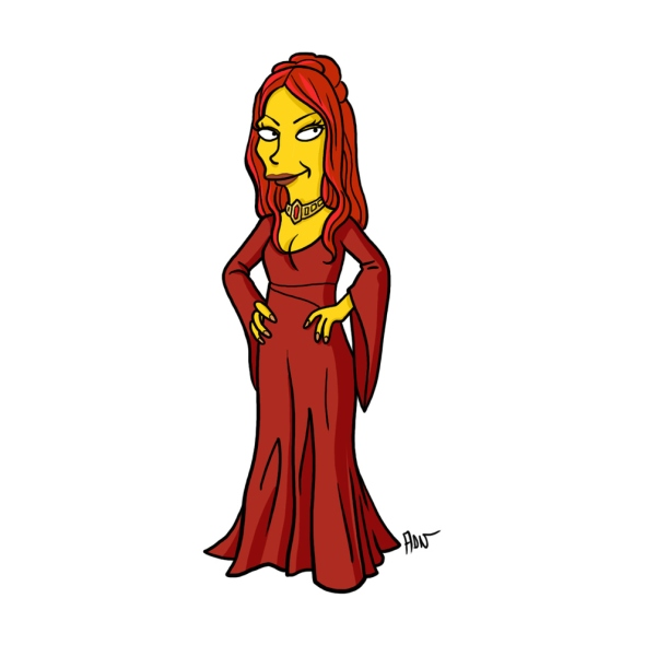 Melisandre simpson character cartoon
