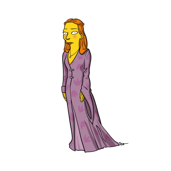 Sansa Stark simpson character cartoon