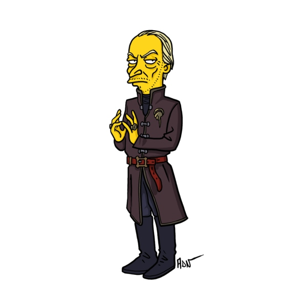 Tywin Lannister simpson character cartoon